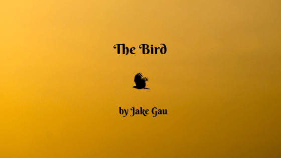 [image of bird against yellow sky] The Bird by Jake Gau