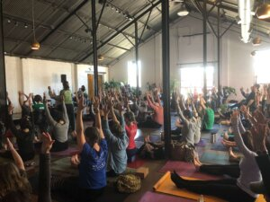 All Humanity yoga class