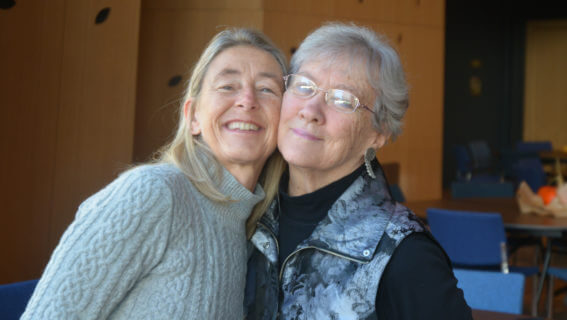 Polly with Kathy Dahl