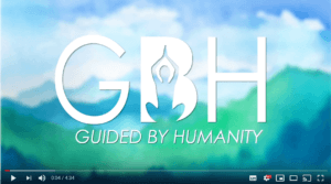 Title card for Guided By Humanity video